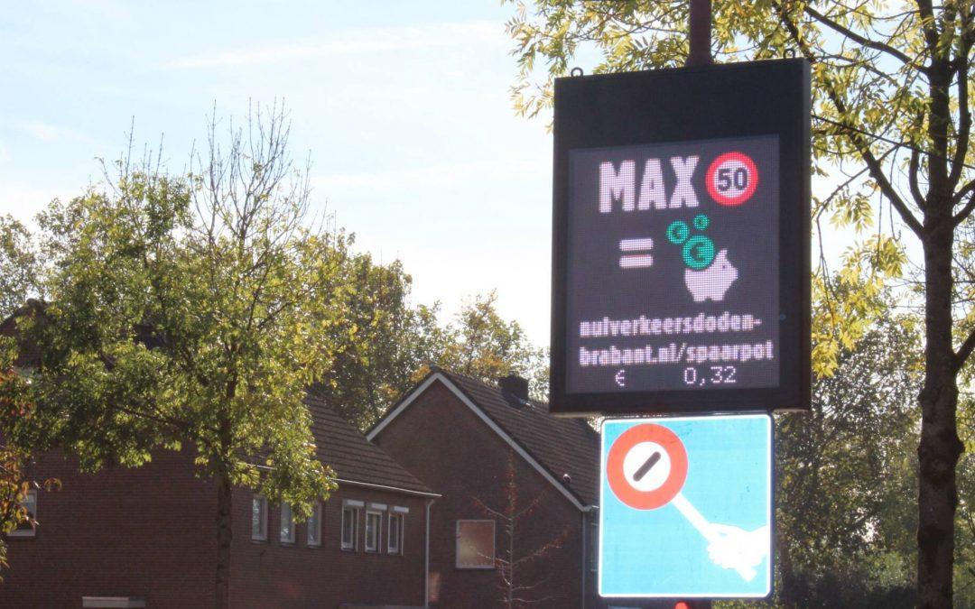 Brabantse automobilist rijdt langzamer door snelheidsmeter met spaarsysteem